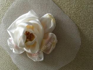 Silk ribbon on crinoline